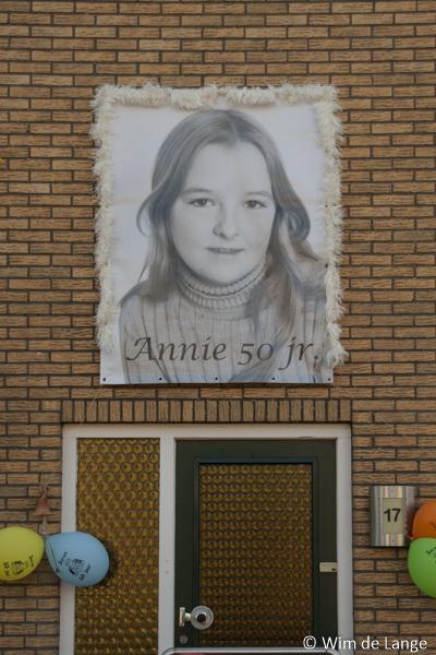 Fotospandoek Annie 50 jaar